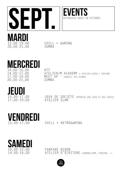 menu SEPTEMBRE